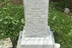 His wife Mary after the first cleaning.